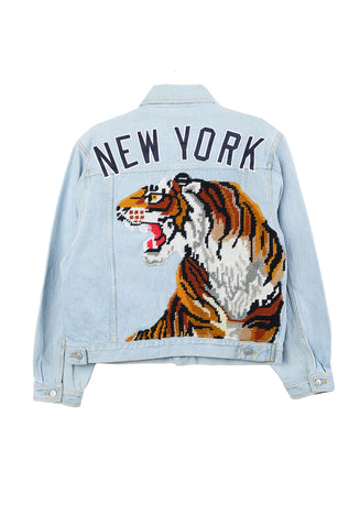 New York Tiger Embroidered Jacket