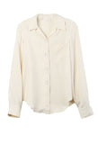 Long Sleeved Bowling Shirt Cream