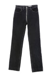 Zip Through Pant Black Denim