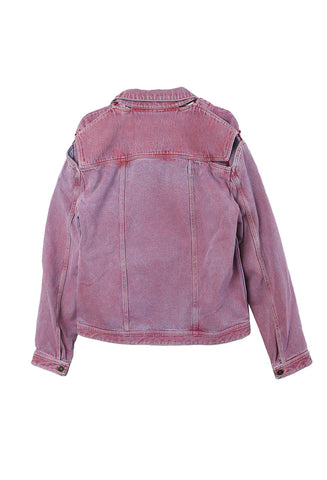 Red Denim Bleached Jacket
