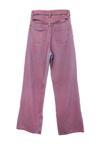 Red Bleached Jeans