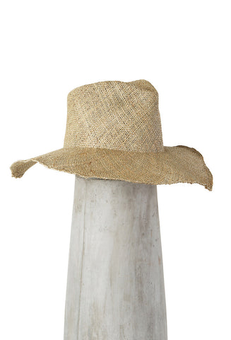 Wide Brim Pinch Hat Seagrass