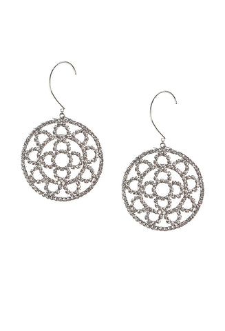 Crystal Cup Chain Crochet Earrings