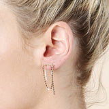 Loren Stewart Chain Cascade Earrings / Shop Super Street - 2