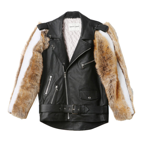 Sandy Liang Rivington Leather Jacket / Shop Super Street - 1