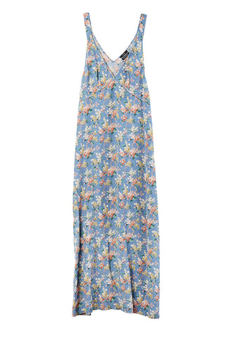 Long Slip Blue Floral