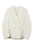 Double Breasted Jacket Ivory