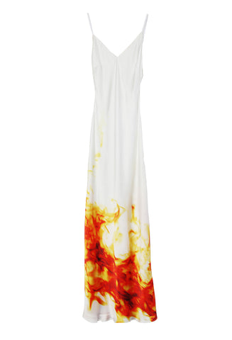 Classic Slip Dress Fire/White