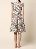Rodarte Floral Print Cloque Dress / Shop Super Street - 3