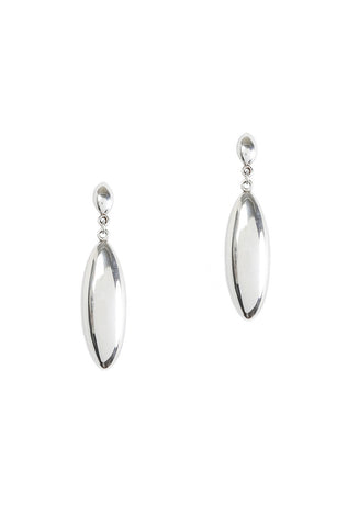Small Silver Drop Earrings