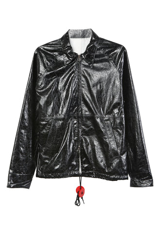Leather Windbreaker