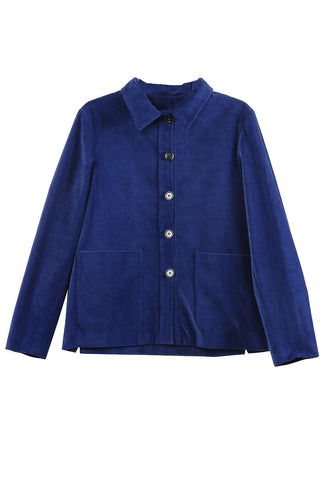 Work Jacket Royal Blue Corduroy