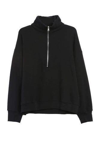 Rime Half Zip Black