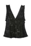 Kerly Silk Sleeveless Top Black