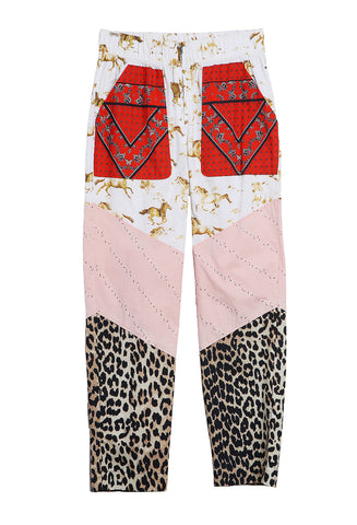 Patchwork Pants Color Block