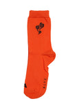 Triple Flower Socks Orange