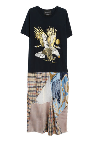 Eleonora Pleated Train Tee Multi