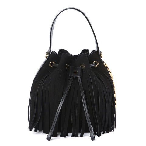 Moschino Small Fringe Bucket Bag / Shop Super Street - 1