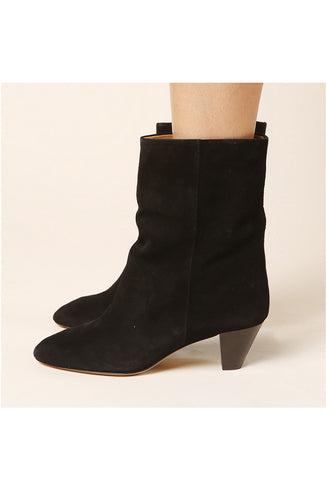 Isabel Marant Dina Black Suede Boot / Shop Super Street - 1