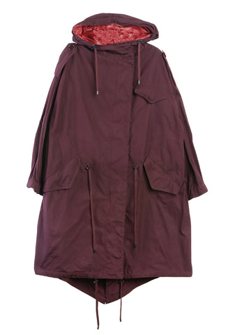 Duano Coat Burgundy