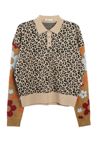 Paw Paw Sweater Leopard Floral