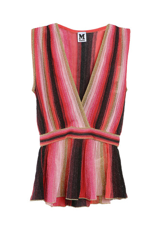 Lurex V Neck Tank