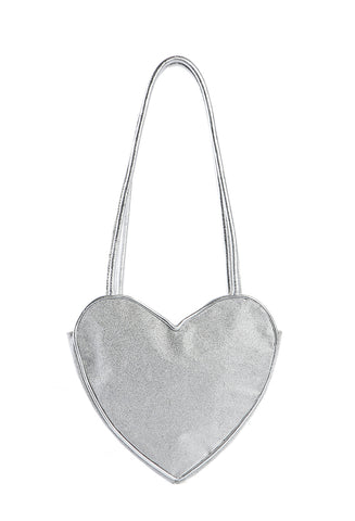 Heart Purse Silver Sparkle