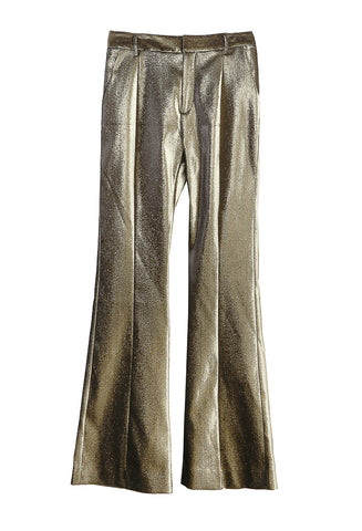 Stretch Lame Flared Trouser