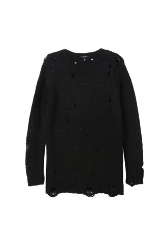 R13 Shredded Crewneck Sweater / Shop Super Street - 1
