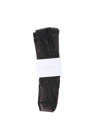 Darner Black/Nude Polka Dot Mesh Sock / Shop Super Street