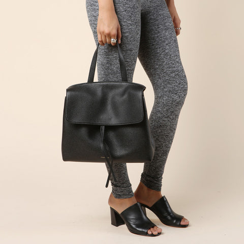 Mansur Gavriel Black Tumble Lady Bag / Shop Super Street - 1