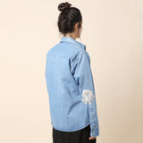 Bliss and Mischief Embroidered Denim Shirt / Shop Super Street - 4