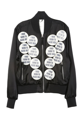 Satin Blouson Pin Jacket