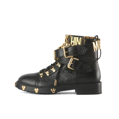 Moschino Ankle Strap Boots