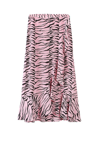 Gracie Tiger Skirt Pink/Black