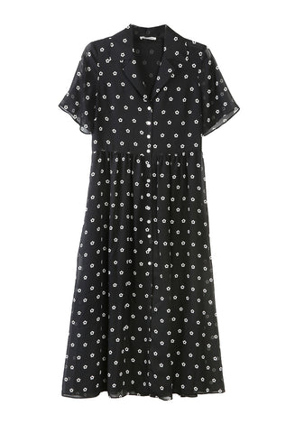 Picasso Dress Dalmation Print