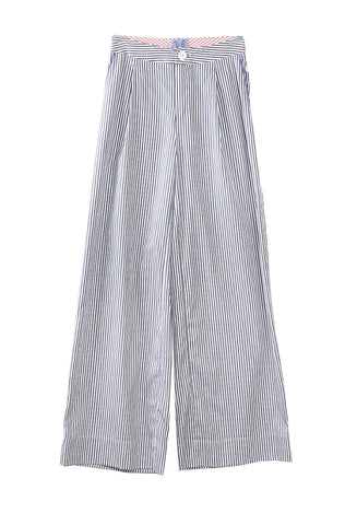 Loulou Pant Chricket Stripe Charcoal