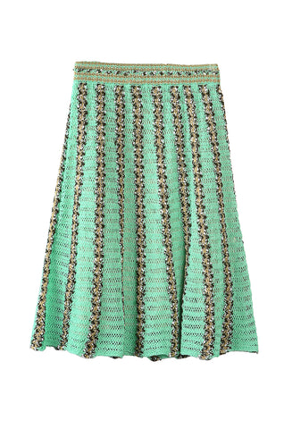 Knit Skirt Green