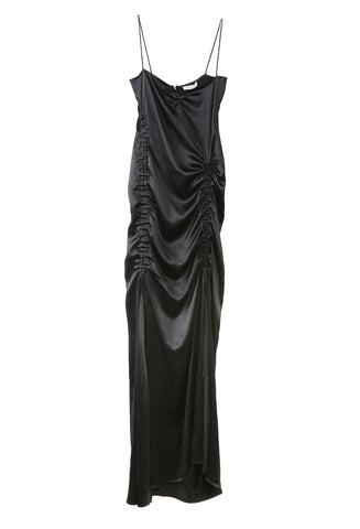 Ruched Long Dress Black