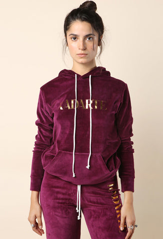Rodarte Burgundy Velour Hoodie / Shop Super Street - 1