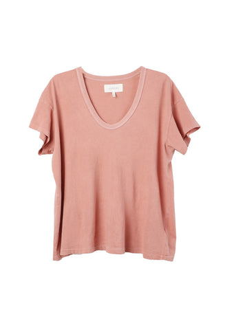 The Great The U-Neck Coral Tee / Shop Super Street - 1