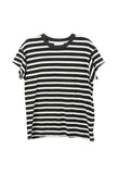 The Great The Boxy Crew Black and White Stripe / Shop Super Street - 1