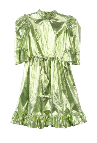 Short Prairie Dress Green