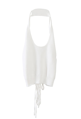 Olea Halter Top White