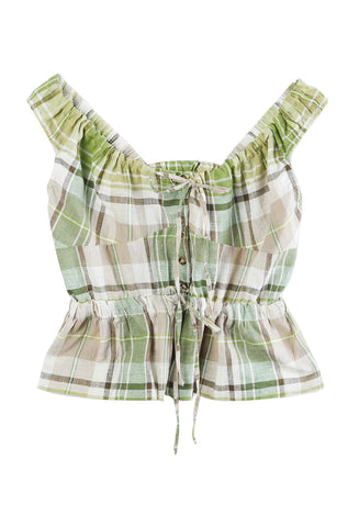 Ilaria Top Green Plaid