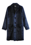 Stripe Overcoat Navy