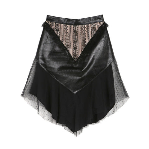 Rodarte Leather and Lace Skirt / Shop Super Street - 1