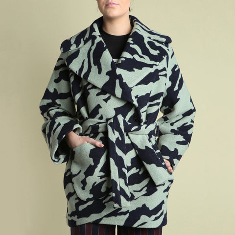 Carven Camo Fleece Coat / Shop Super Street - 1