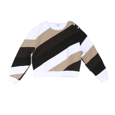Carven Slanted Stripe Sweatshirt / Shop Super Street - 1