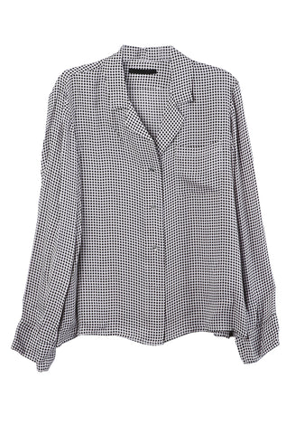 Gingham Open Lapel Shirt